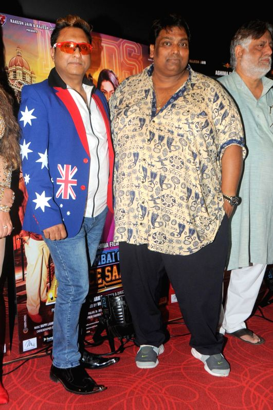 Actor Paddy with Ganesh Acharya during the trailer launch of film Mumbai Can Dance Saala in Mumbai, on Dec. 22, 2014. - Paddy