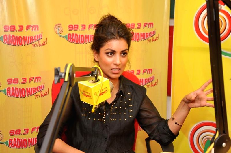 Actor Pallavi Sharda at Radio Mirchi studio for promotion of her upcoming film Hawaizaada in Mumbai, on Jan 08, 2015. - Pallavi Sharda