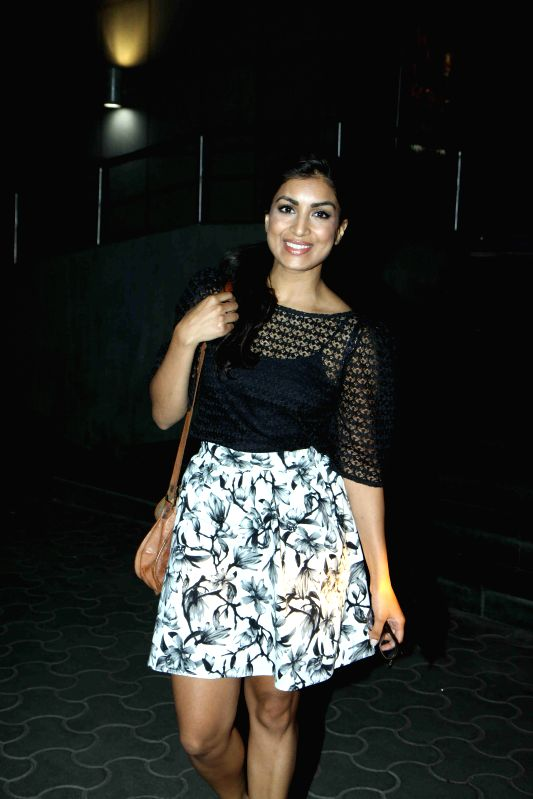 Actor Pallavi Sharda during the special screening of Hollywood film The Second Best Exotic Marigold Hotel in Mumbai, on March 13, 2015. - Pallavi Sharda