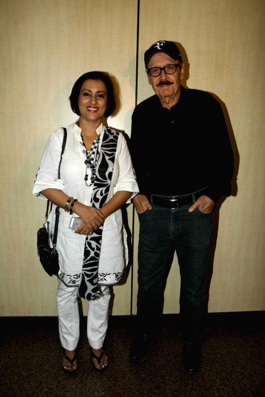 Actor Parikshit Sahni and singer Madhushree arrives to attend Dr. Ambedkar Award 2015, in Mumbai on 13th April 2015. - Parikshit Sahni