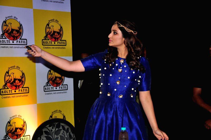 Actor Parineeti Chopra during the launch of KPDL Mobile App - Customer Connect and Partner Connect in Mumbai, on Jan. 16, 2015. - Parineeti Chopra