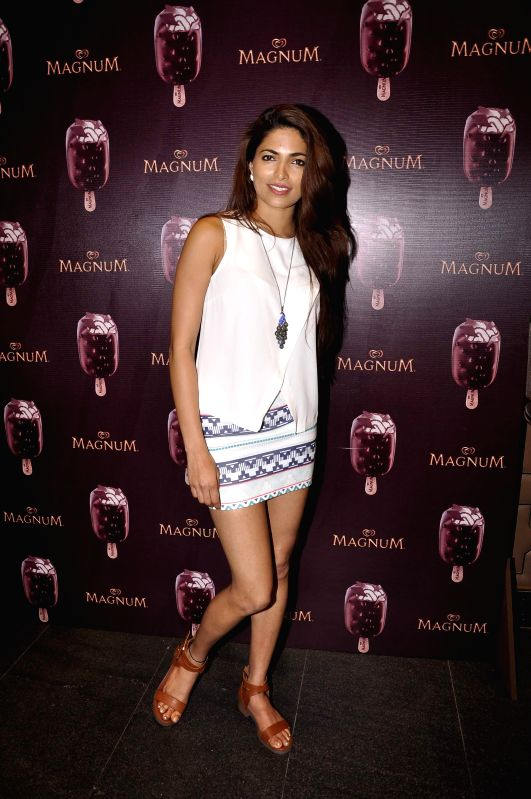 Actor Parvathy Omanakuttan during the launch of a new Choco Cappuccino flavour of HUL`s Magnum Icecream in Mumbai on Feb 22, 2015. - Parvathy Omanakuttan