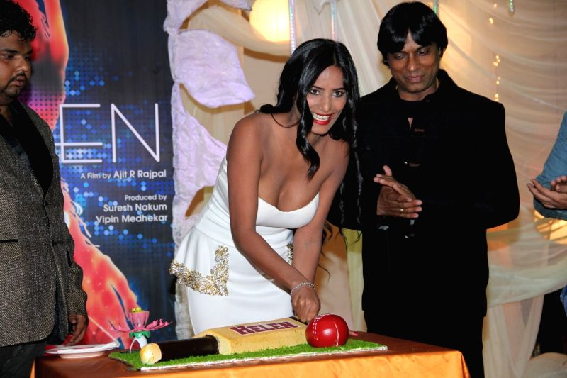 Actor Poonam Pandey during the poster launch of film Helen in Mumbai, on March 25, 2015 - Poonam Pandey