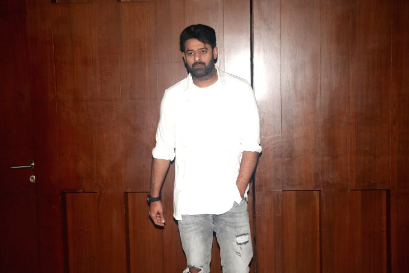 "Mumbai: Actor Prabhas during a programme organised to promote ""Saaho"" in Mumbai on Aug 19, 2019."