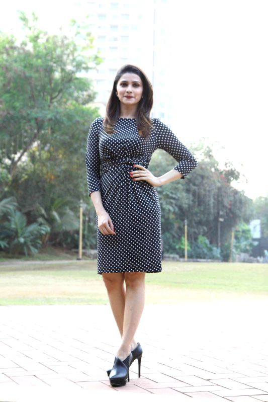 Actor Prachi Desai during the announcement of her New Year`s Eve performance in CCIL in Mumbai, on December 29, 2014.