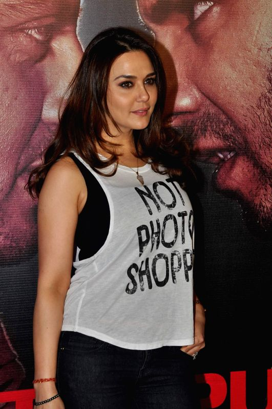 Actor Preity Zinta during the success party of the film Badlapur in Mumbai on Feb 27, 2015. - Preity Zinta