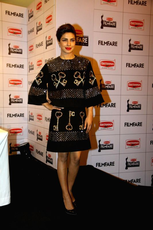 Actor Priyanka Chopra during the announcement of the 60th Britannia Filmfare awards in Mumbai on Sunday, Dec. 7, 2014. - Priyanka Chopra