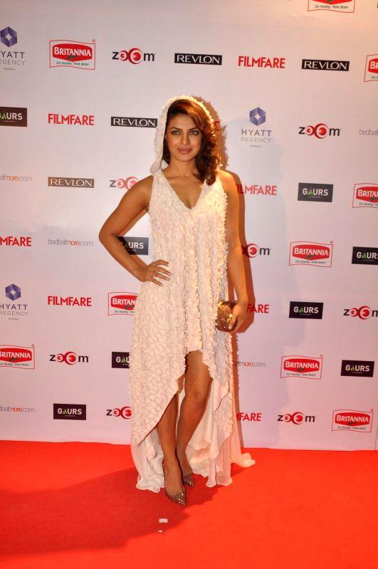 Actor Priyanka Chopra during the 60th Britannia Filmfare pre awards party in Mumbai, on Jan. 22, 2015. - Priyanka Chopra