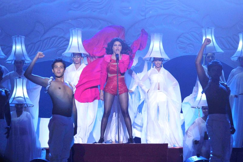 Actor Priyanka Chopra performs during television show Got Talent World Stage Live in Mumbai on Dec 6, 2014. - Priyanka Chopra