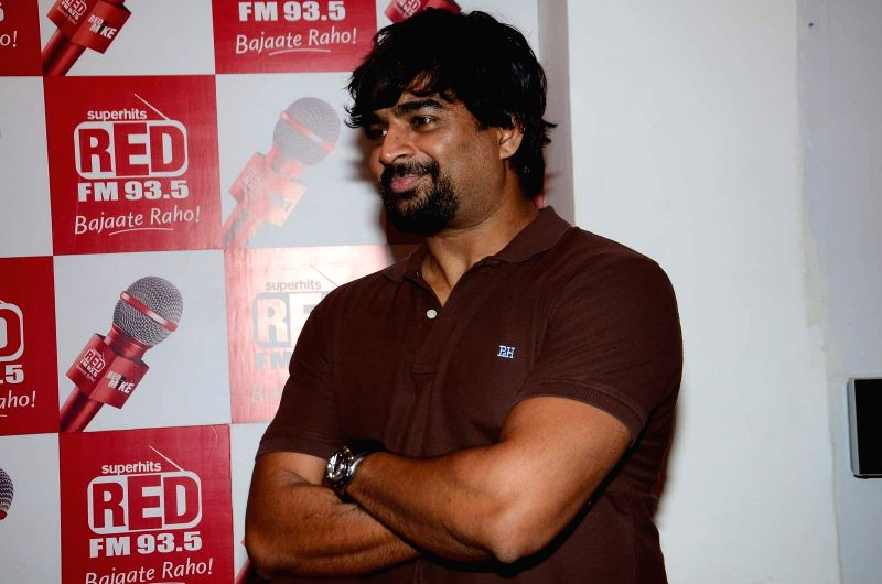 Actor R Madhavan at Red FM studio for the promotion of film Tanu Weds Manu Returns in Mumbai on May 28, 2015.