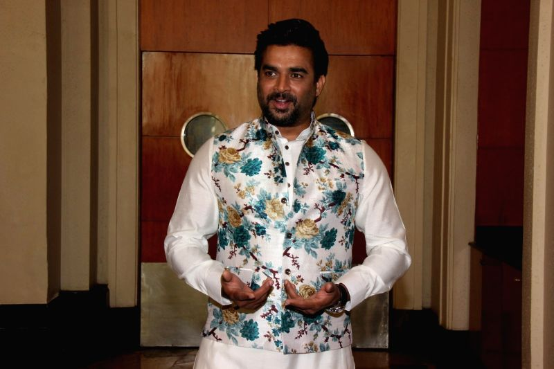 Actor R Madhavan during the promotion of film Tanu Weds Manu Returns in Mumbai, on May 18, 2015. - R Madhavan