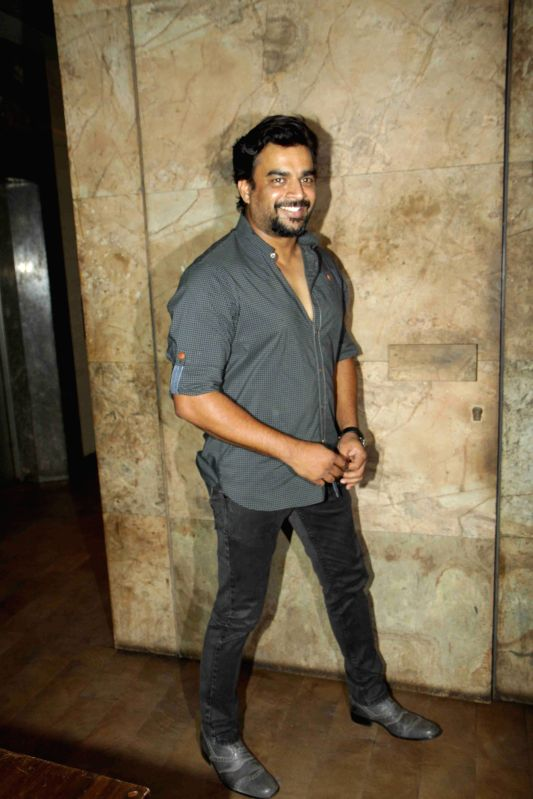 Actor R Madhavan during the screening of film Tanu Weds Manu Returns in Mumbai 20th May 2015 - R Madhavan