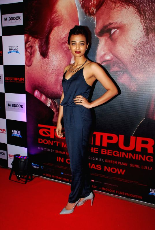 Actor Radhika Apte during the success party of the film Badlapur in Mumbai on Feb 27, 2015. - Radhika Apte