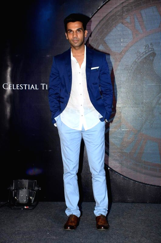 Actor Rajkumar Rao during the launch of Titan`s Celestial Time range of watches in Mumbai on June 8, 2015.