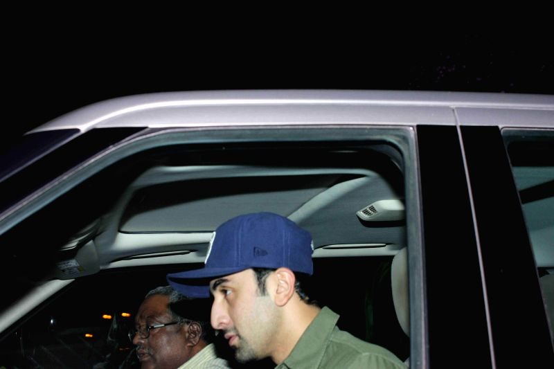 Actor Ranbir Kapoor spotted at filmmaker Karan Johar's residence in Mumbai, on Jan. 30, 2015. - Ranbir Kapoor