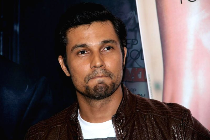 Actor Randeep Hooda during the cover launch of Mandate magazine`s latest issue in Mumbai, on March 17, 2015.
