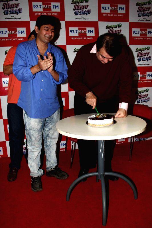 Actor Randhir Kapoor celebrates his 68th birthday with 92.7 Big FM in Mumbai, on Jan. 30, 2015.