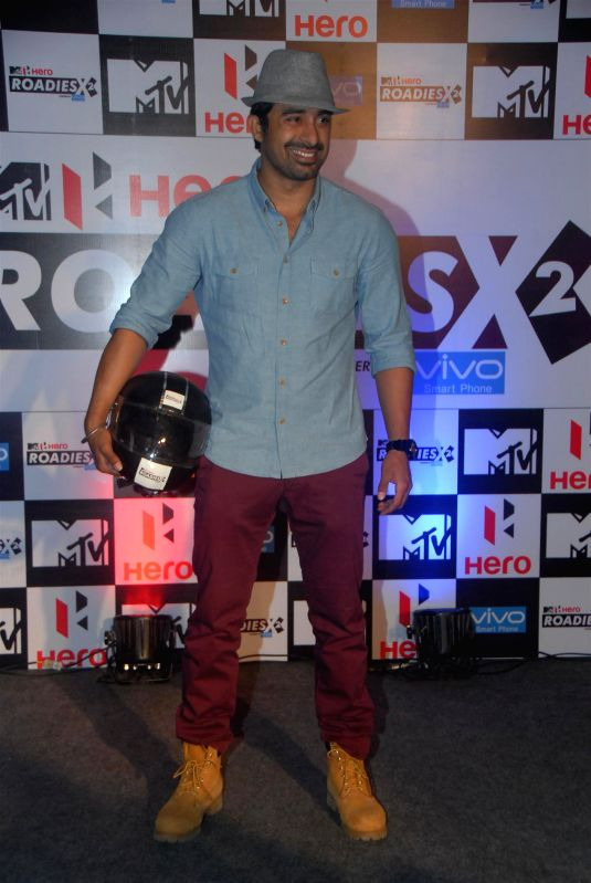 Actor Rannvijay Singh, during the launch of MTV Rodies X2, a youth-based popular reality television show on MTV India channel, in Mumbai, on Jan. 22, 2015. - Rannvijay Singh