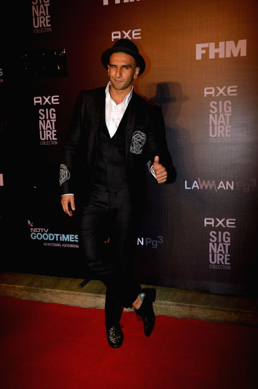 Actor Ranveer Singh during the Trailer Bachelor of the Year Awards 2014 in Mumbai, on Dec. 22, 2014. - Ranveer Singh