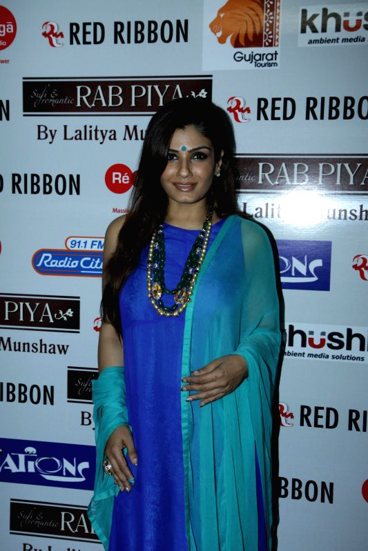 Actor Raveena Tandon during the launch of Lalitya Munshaw's music album 'Rab Piya in Mumbai, on November 16, 2014.