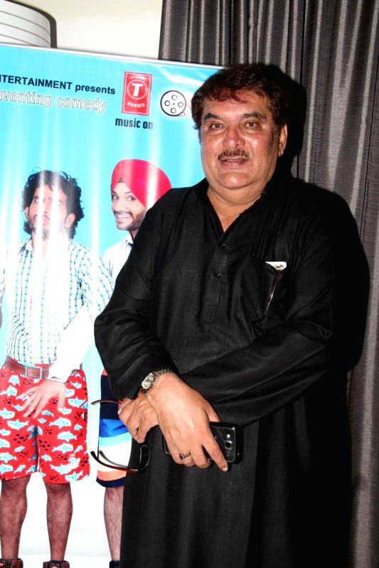 Actor Raza Murad during the music launch of film Three Atrangi Jai-Veeru-Gabbar in Mumbai on March 20, 2015. - Raza Murad