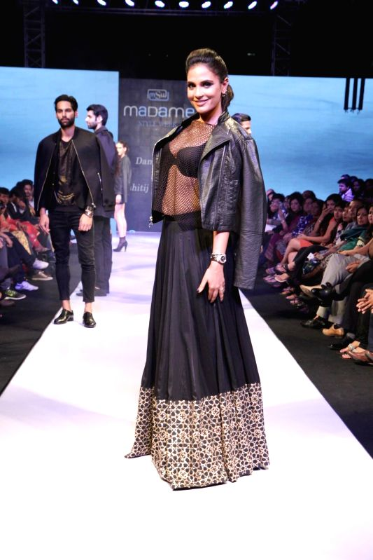Actor Richa Chadda during Madame Style Week fashion show in Mumbai, on November 22, 2014. - Richa Chadda