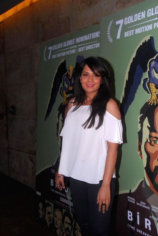 Actor Richa Chadda during the special screening of Hollywood film Birdman in Mumbai, on Jan. 16, 2015. - Richa Chadda