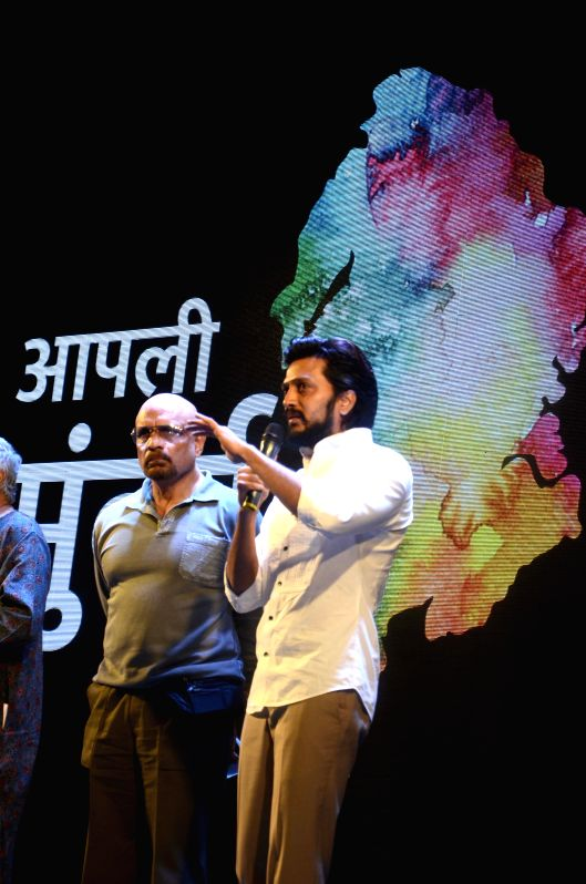 Actor Riteish Deshmukh during a seminar convened by MNS chief Raj Thackeray to discuss the controversial Mumbai Development Discussion (MDP) in Mumbai, on March 28, 2015. - Riteish Deshmukh