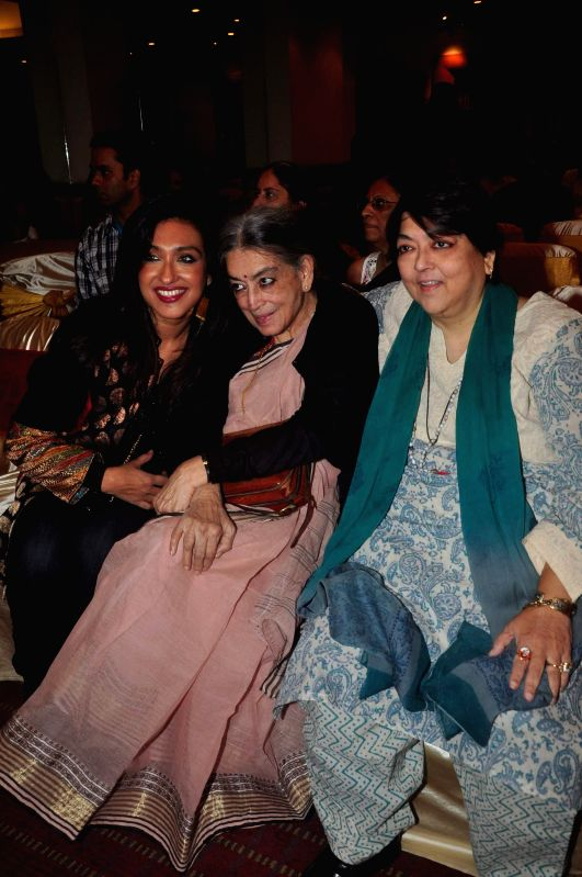 Actor Rituparna Sengupta, artist Lalita Lajmi and filmmaker Kalpana Lajmi during the music launch of film Extraordinaari in Mumbai on Dec 30, 2014. - Rituparna Sengupta
