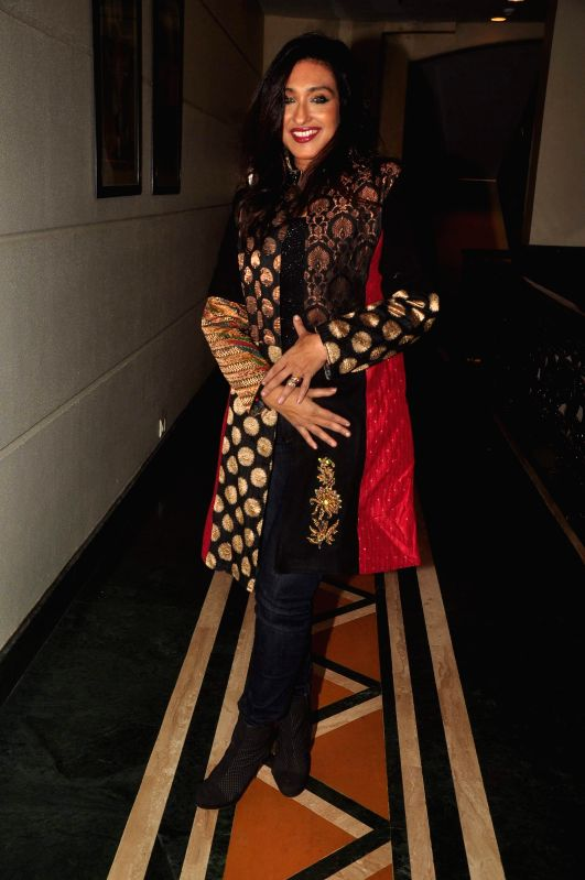 Actor Rituparna Sengupta during the music launch of film Extraordinaari in Mumbai on Dec 30, 2014. - Rituparna Sengupta