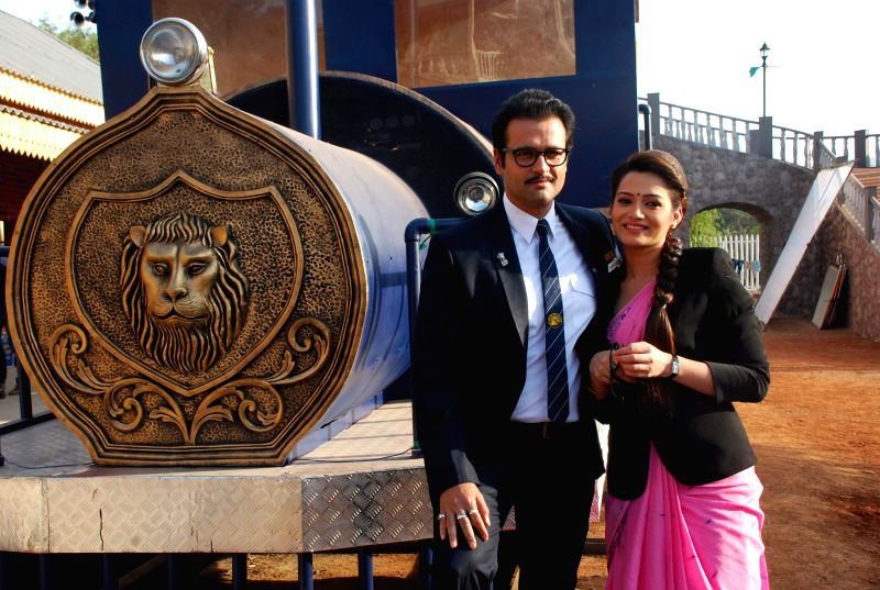 Actor Rohit Roy at  SAB TV launches Peterson Hill serial in Filmcity in  Mumbai on 20th Jan 2015