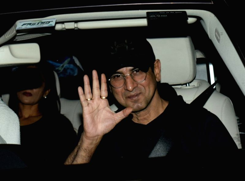 "Actor Ronit Roy arrives to attend the special screening of film ""LoveYatri"" in Mumbai (Image Source: IANS News)"