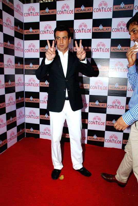 Actor Ronit Roy during the celebration of 400 episodes of Sony TV serial Adaalat  in Mumbai on Feb 20, 2015. - Ronit Roy