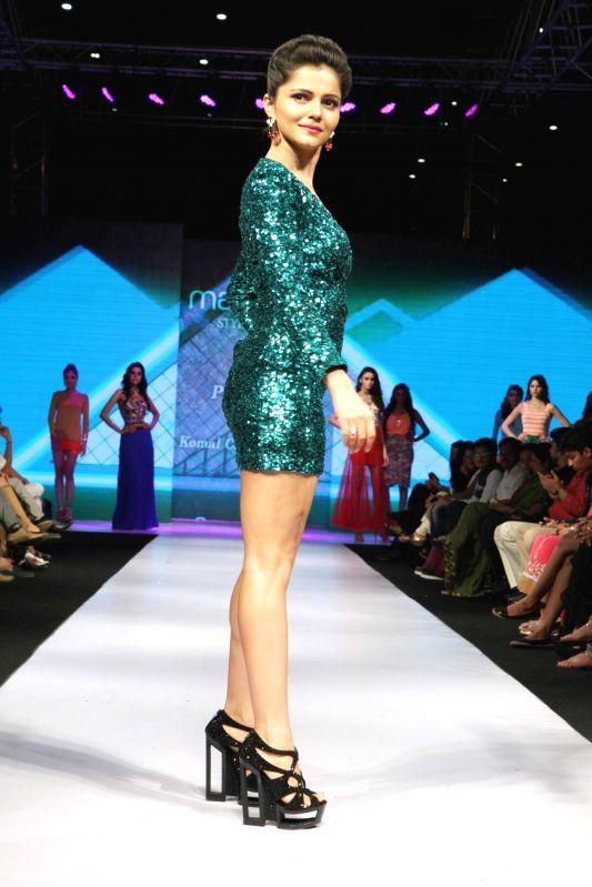 Actor Rubina Dilaik during Madame Style Week fashion show in Mumbai, on November 22, 2014. - Rubina Dilaik