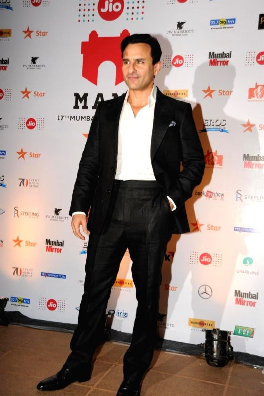 : Mumbai: Actor Saif Ali Khan during the closing ceremony of Jio MAMI 17th Mumbai Film Festival, in Mumbai on Nov. 5, 2015. (Photo: IANS). - Saif Ali Khan