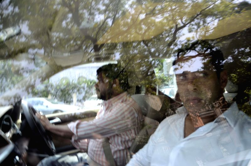 Actor Salman Khan arrives to appear before a Mumbai court in connection with the infamous 2002 hit and run case on March 27, 2015.