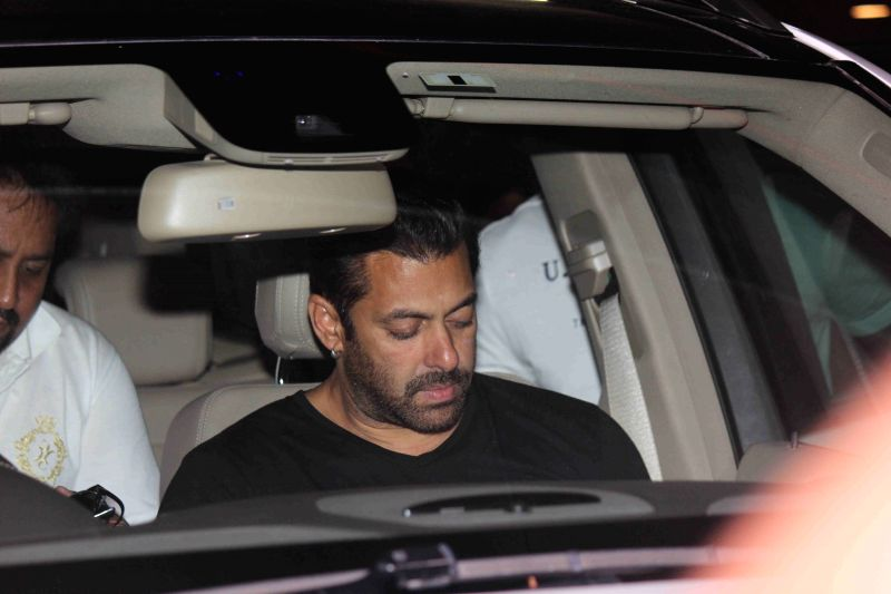 Actor Salman Khan spotted at the international airport in Mumbai, on May 30, 2015. - Salman Khan