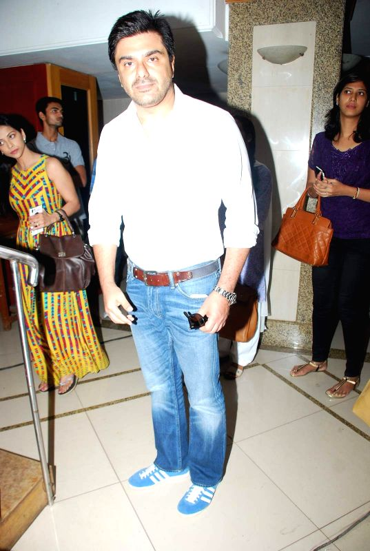 Actor Sameer Soni during the Mahurat and on location of film Chalk and Duster, in Mumbai on April 12th, 2015. - Sameer Soni