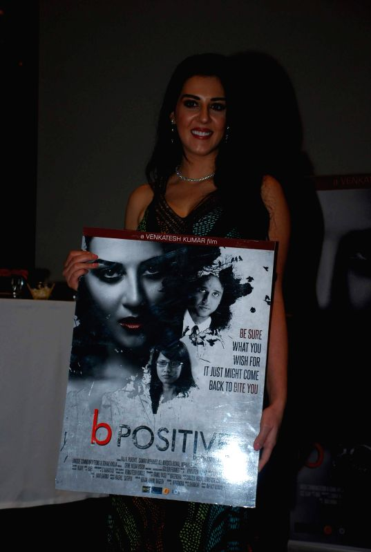 Actor Samira Mohamed Ali during poster launch of film B Positive in Mumbai, on Jan. 19, 2015. - Samira Mohamed Ali
