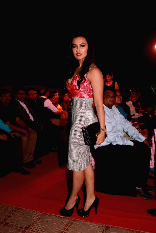 Actor Sana Khan during the 13th Society Interiors Design Competition and Awards in Mumbai on Feb 21, 2015. - Sana Khan