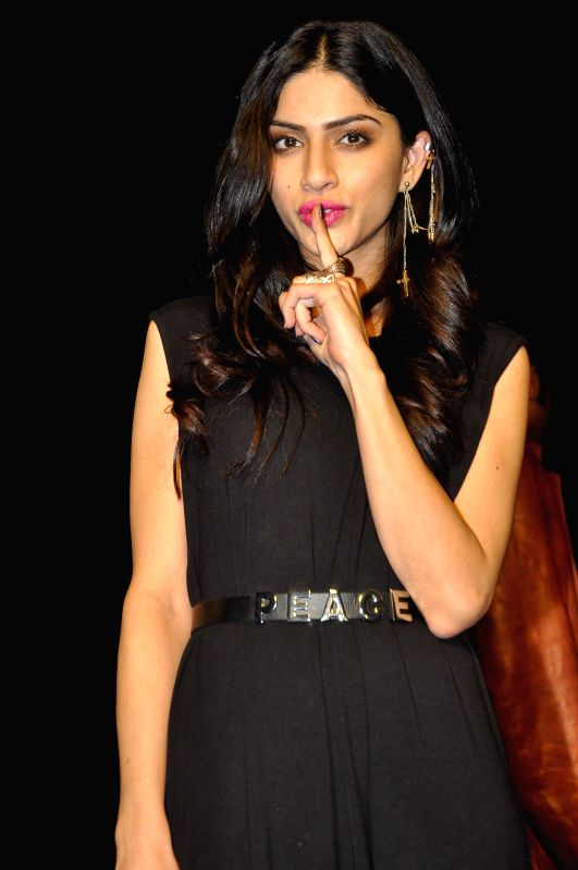 Actor Sapna Pabbi during the promotion of film 'Khamoshiyan' in Mumbai in Mumbai on Jan. 15, 2015. - Sapna Pabbi