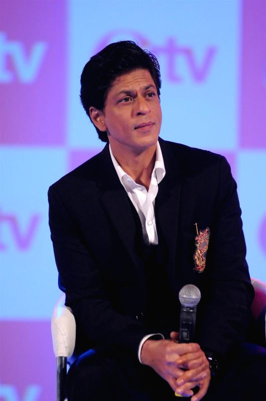 Actor Shah Rukh Khan during the launch of new Hindi entertainment channel &TV in Mumbai on Jan 21, 2015.