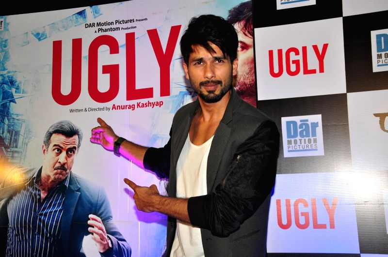 Actor Shahid Kapoor during the premiere of film Ugly in Mumbai on 23, Dec. 2014. - Shahid Kapoor