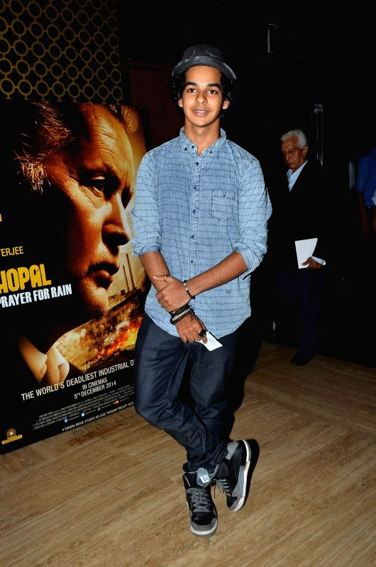 Actor Shahid Kapoor's brother Ishaan Khattar during the premiere of film Bhopal: A Prayer for Rain in Mumbai, on December 4, 2014. - Shahid Kapoor and Ishaan Khattar