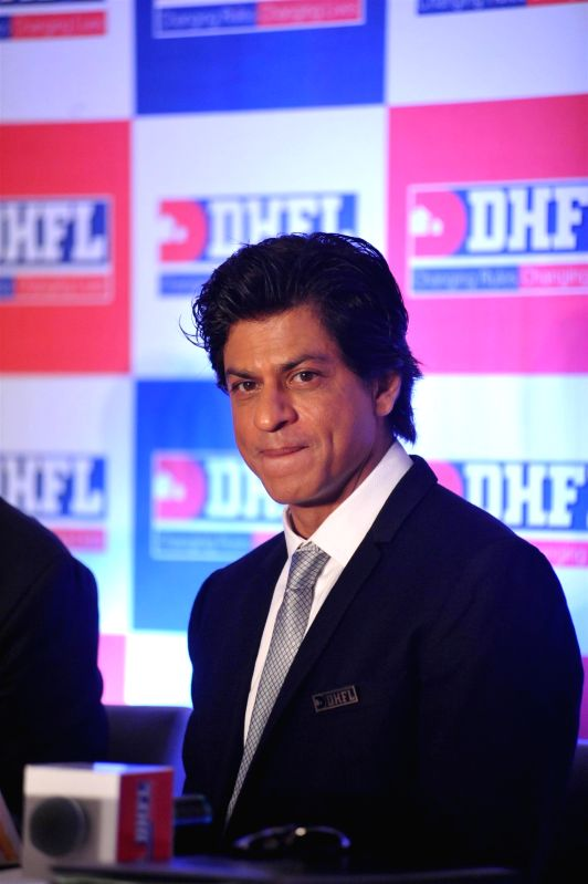 Actor Shahrukh Khan during a press conference in Mumbai, on November 21, 2014. DHFL, India's second largest housing finance company announced Shahrukh Khan as its brand ambassador.