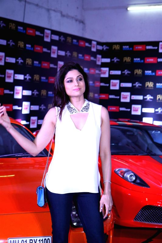 Actor Shamita Shetty during the premier show of the film Fast & Furious  in Mumbai on April 1, 2015. - Shamita Shetty