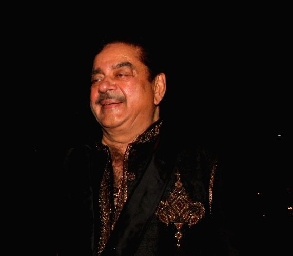 Actor Shatrughan Sinha during the 50th birthday of Sangeethi Seetharaman, in Mumbai, on April 27, 2015. Politician Amar Singh hosted the party for Sangeethi Seetharaman who is the wife of ... - Shatrughan Sinha