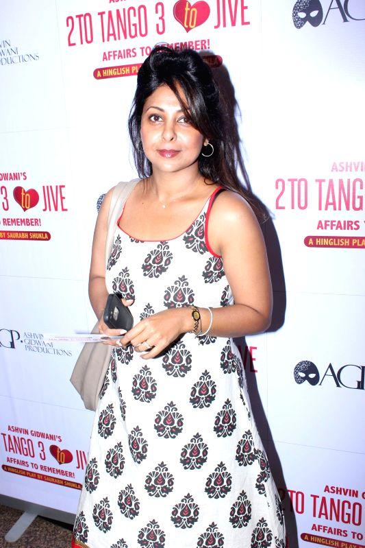 Actor Shefali Shah during Ashvin Gidwani`s play Two to Tango Three to Jive, in Mumbai on April 4, 2015. - Shefali Shah
