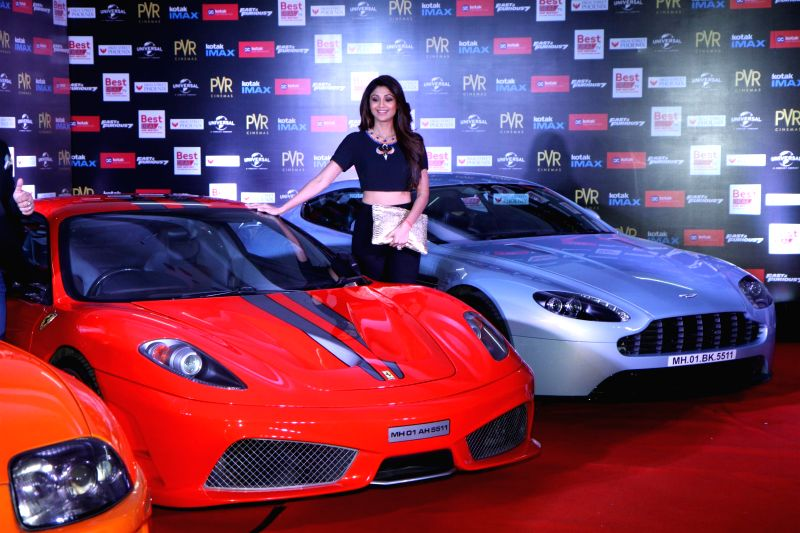 Actor Shilpa Shetty during the premier show of the film Fast & Furious  in Mumbai on April 1, 2015. - Shilpa Shetty