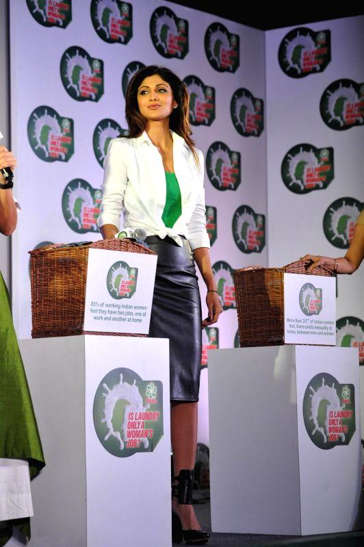 Actor Shilpa Shetty Kundra during a press conference in Mumbai, on jan. 08, 2015. - Shilpa Shetty Kundra